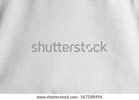 close up white canvas fabric background