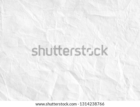 Close-up White sheet background.White paper sheet.White creased paper background texture - Image