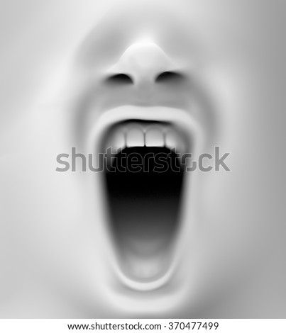 Shutterstock close up with a mouth screaming