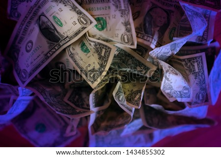 Background of American one-dollar bills Images and Stock