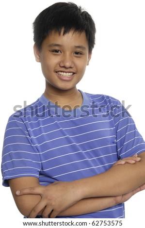 Close up young asian smile man