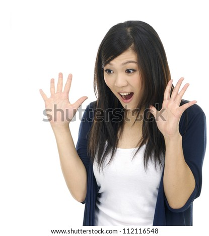 Close up -young woman showing framing hand gesture