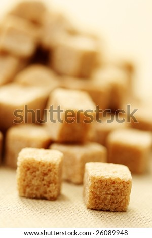 close-ups of brown sugar cubes - food and drink