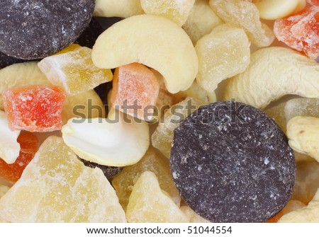 Close View Fruit Nut Mixture