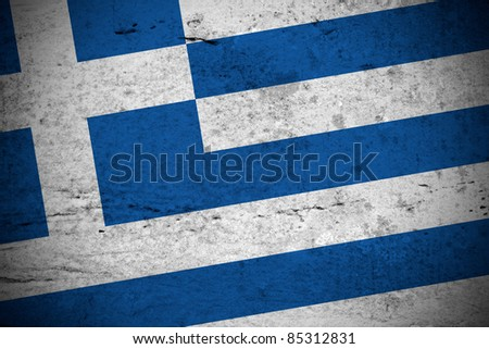 Close view of a vintage greek flag illustration