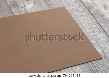 Close view of carton business card on wooden desk 3d render close view of carton business card on wooden desk 3d render template to showcase your flashek Choice Image
