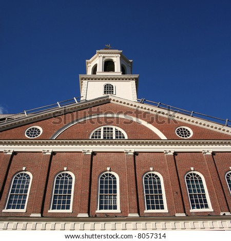 close view of Faneuil Hall Boston Massachusetts
