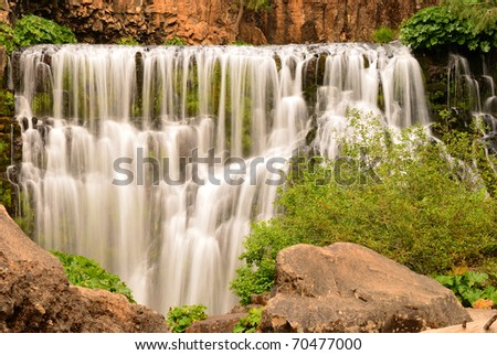 Close view of Middle Falls on the McCloud River, California
