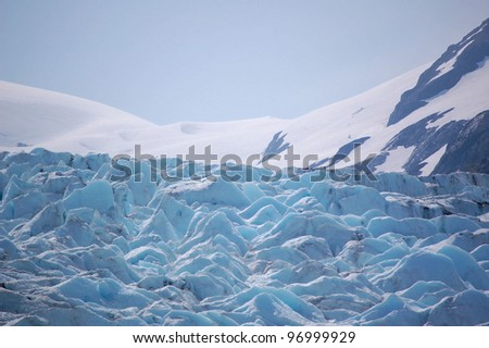 Close View of Portage Glacier, Alaska