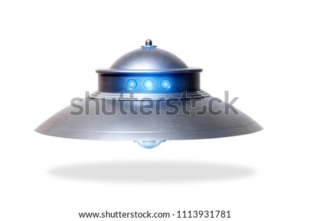 Close view of the classic dome ufo saucer.