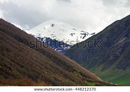 Close view of the mountains, Ushguli, Svaneti, Georgia #448212370