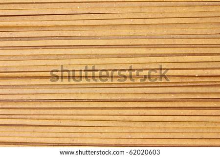 Close view of whole grain linguine.