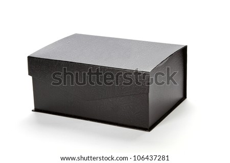 closed Black cardboard box
