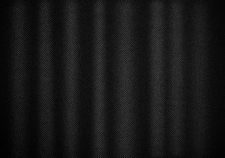 Closed black cloth curtain use for background