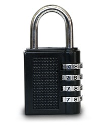 closed black padlock with drop shadow