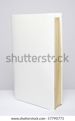 closed blank book - stock photo