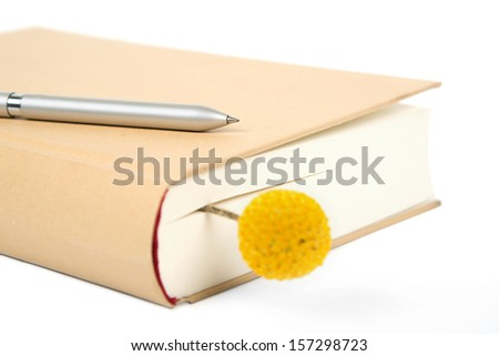 closed book and pen for writing