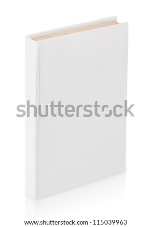 Closed book with clipping path isolated on white background