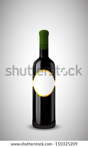 closed bottle of wine with the label