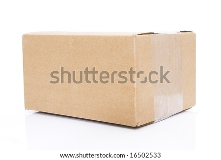 closed box isolated against white background