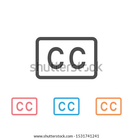 Closed captioning icon set illustration image