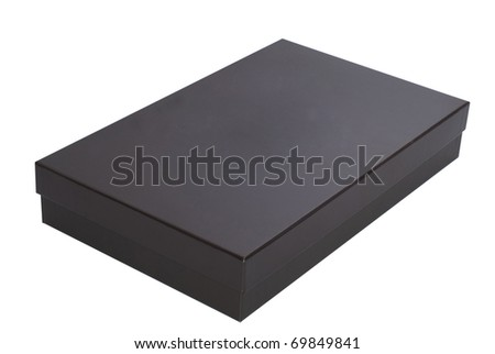 Closed cardboard box isolated over a white background