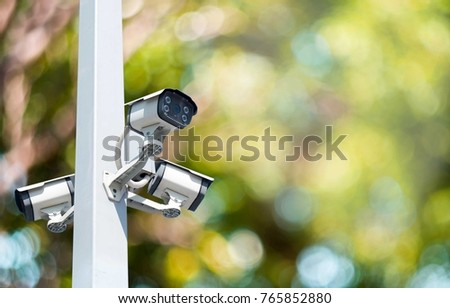 closed circuit camera Multi-angle CCTV system isolated from the background cipping part
