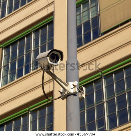 Closed Circuit TV video camera for security surveillance