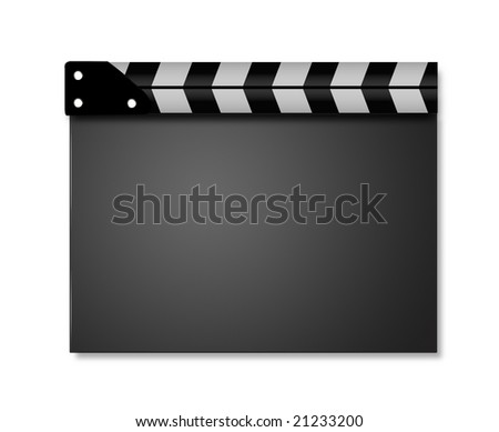 Closed Clappers (3d render) - stock photo