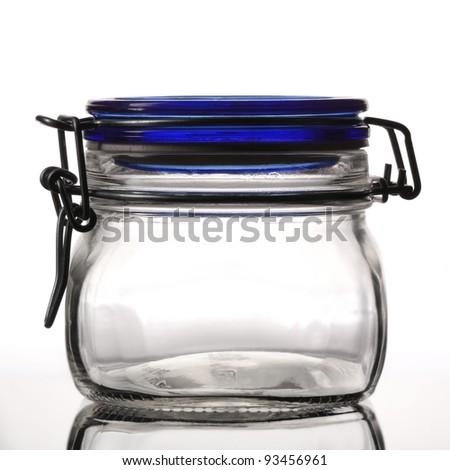 closed empty glass jar