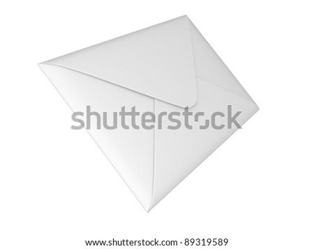 Closed envelope 3d illustration on a white background