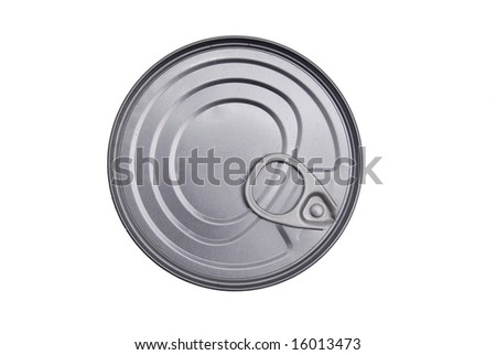 Closed Food Can Isolated on White Background