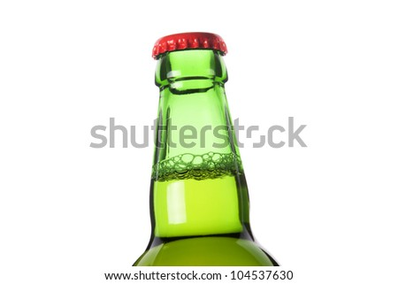 closed frosty beer bottle