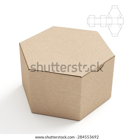 how to make a hexagonal pyramid out of cardboard