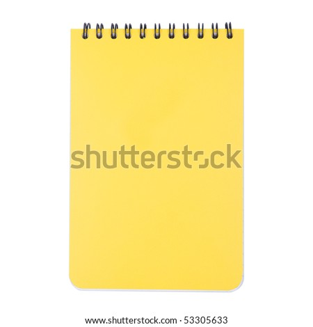 Closed Notepad Isolated on White Background
