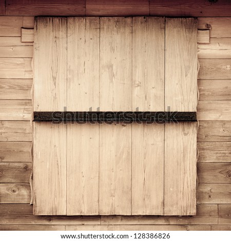 Closed old wood window texture background