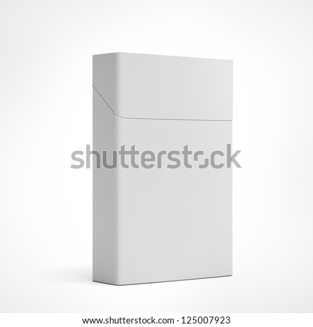 Closed pack of cigarettes isolated on a white background