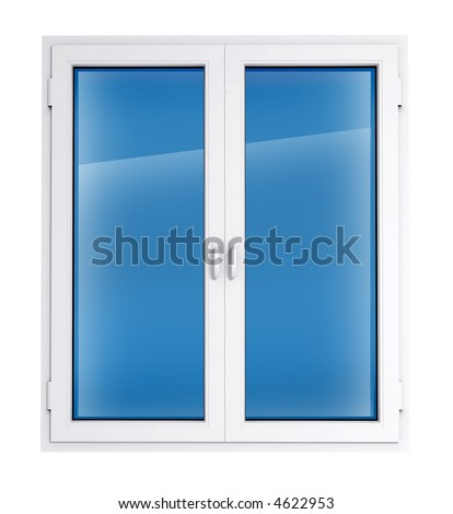 Closed plastic window template model with clipping path included