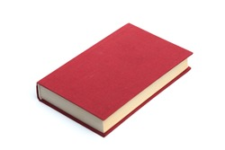 Closed red  book isolated on a white background -Image