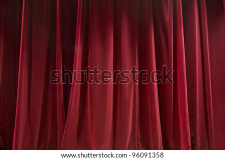 Closed red curtain - background texture