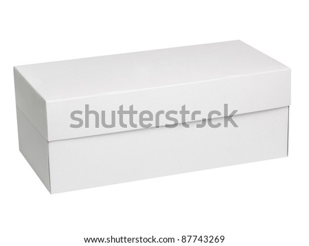 Closed shipping cardboard box isolated on white & Clipping Path