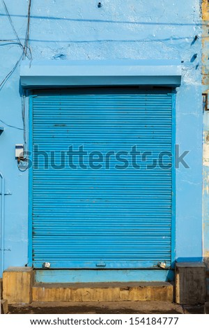 closed shops in Jaipur, India. For Hindi people, Friday is the holy day of rest.