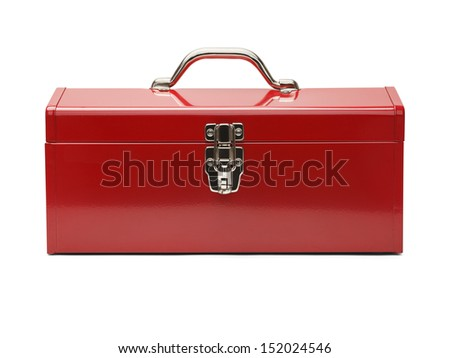 Closed Tool Box Isolated on a White Background.