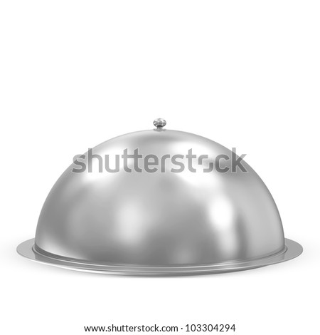 Closed Tray isolated on white background