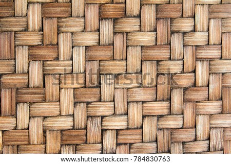 Closed up of brown color wicker textured background - Shutterstock ID 784830763