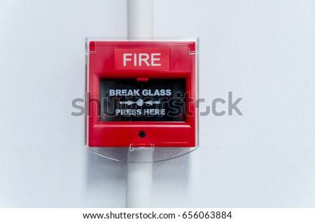 Closed-up of Fire alarm press machine.