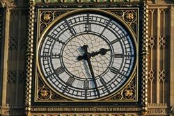 Closer look on Big Ben, London