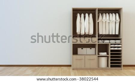 closet 3d rendering 3d rendering