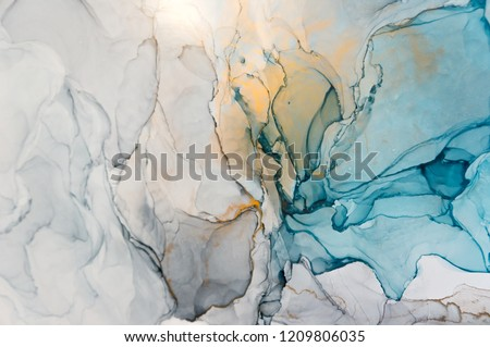 Closeup alcohol ink abstract painting. Soft color texture. Bright modern artistic motion background. Fractal artwork for creative graphic design. High quality details. Modern contemporary art.