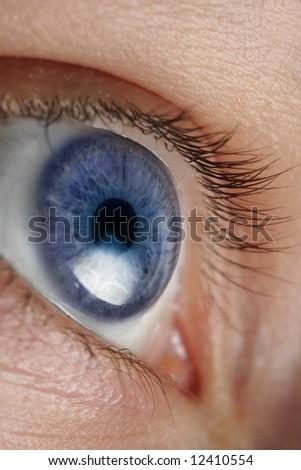 Closeup an eye